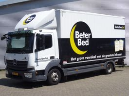 closed box truck Mercedes-Benz ATEGO 816L MET ELEKTRISCH ROLLUIK 2014