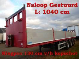 flatbed semi trailer Zorzi 3 As Oplegger Open - Gedwongen gestuurd, OP-63-PT 2007