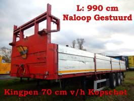 flatbed semi trailer Zorzi 3 as Oplegger Open - Naloop gestuurd, OP-18-RT 1994