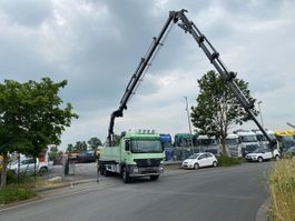 drop side truck Mercedes-Benz Actros 3358 6x4 Baustoffwagen mit Hiab 244-E+Jib Kran 2005