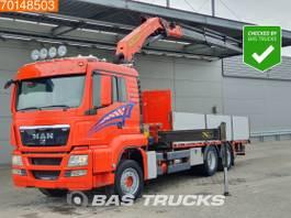 platform truck MAN TGS 26 6X2 Lift+Steering Axle Palfinger PK22002-EH Euro 5 2012