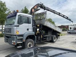 crane truck MAN TGA 18 4X4 MANUAL FULL STEEL + PM 21/6 CRANE MET REMOTE 2004