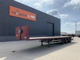 flatbed semi trailer Renders Flatbed, X-steering, discbrakes, liftaxle, hardwooden floor 2007
