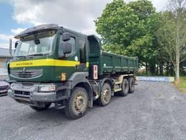 tipper truck Renault Kerax 450 DXI - 8 X 4 BIBENNE- MANUELLE -lames