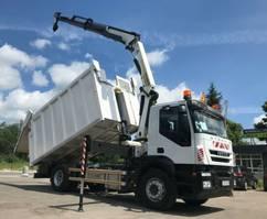 crane truck Iveco Stralis 190 AD190 Palfinger PK 14002 Crane Kipper 2012
