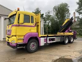 drop side truck MAN TGS 28 6X2 BL Pritsche-Kran HMF 3000K5+4XMech-Funk-Seiwinde 2009