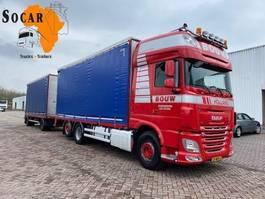 Pritschenwagen  DAF XF 106 .460 6X2 + GS MEPPEL Aanhanger -> Pluimvee/Geflügel /Chicken transport 2014