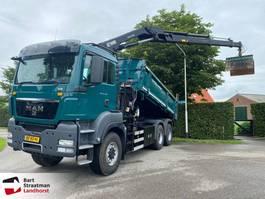 tipper truck > 7.5 t MAN TGS 26 6x6 2 zijdige kipper met HIAB 144 D-3 PRO autolaadkraan 2012