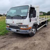 platform truck Mitsubishi HD 3.9L Turbo + Intercooler 1999 7,5t GVW flatbed Aircond 1999