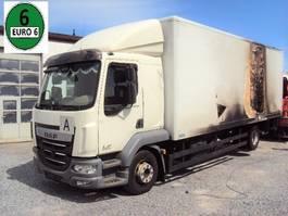 box truck DAF LF 210 LF 14-210 Euro 6 Schalter Gr.Fhs BRANDSCHADEN 2015