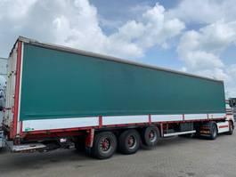 sliding curtain semi trailer Trailor 3 axle with lift axle and aluminium boards