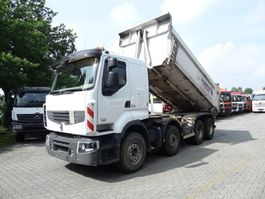 tipper truck Renault Lander 460 8X4 Schmitz Mulde 2013