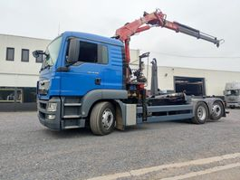 container truck MAN TGS 26 Euro5 Container / Kraan HMF 1563 2013