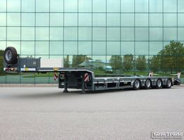 semi lowloader semi trailer Broshuis 4 ABSD-58 SL  SEMI  4 ASSER   NIEUWSTAAT 2011