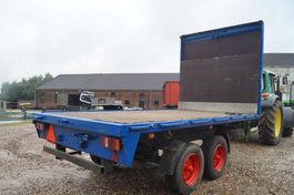 flatbed full trailer Müller-Mitteltal 2-assige aanhangwagen 2000