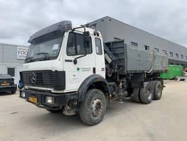 tipper truck > 7.5 t Mercedes-Benz SK 2629 V8 crane MELLER 106RS big axel full steel suspension TOP CONDITION 1992
