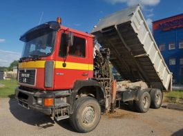 other trucks MAN 26.322 tipper 6x6.Manual.Crane.In top.Not 372 1992
