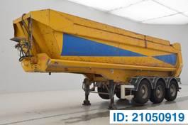 tipper semi trailer Kaiser 27 cub in steel 2001
