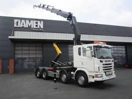 container truck Scania G 480 LB 8x2 Haak/Kraan 2013