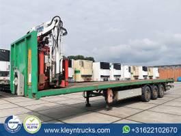 flatbed semi trailer Kaiser KENNIS 16000 roller crane 3x hydr 2006