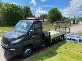 car transporter truck Iveco Daily 70C-170 Knæklad + Fassi Micro 30A.13 Kran 2017
