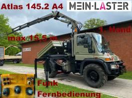crane truck Unimog U 400 Seilwinde Atlas 145.2 A4 15.5 m Funk FB 2004