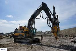 crawler excavator Volvo EC300EL with AMV XD1155T Drilling Tower , radio co 2016