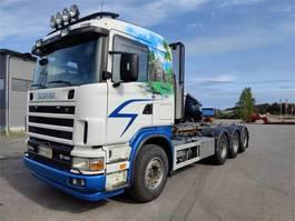 container truck Scania R164 Juuri katsastettu Multilift Koukkulaitteella 2004