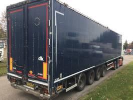 walking floor semi trailer Kel-Berg 92m3 alu kasse + folde/slæde lift 2012