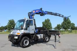 crane truck Unimog U500 4x4 with PM 30 SP JIB WINCH EURO 4  DUTCH PAPERS 2007