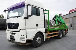 platform truck MAN TGX 26 XLX ,E5 , steer axle , Crane Palfinger Epilson + rem 2011