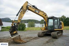 crawler excavator Caterpillar 313FL with rotor tilt, blade, pinch and cleaning b 2019