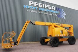 articulated boom lift wheeled Haulotte HA20PX Diesel, 4x4x4 Drive, 20.65m Working Height, 2008