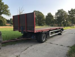 flatbed full trailer Netam-Fruehauf Landbouwwagen