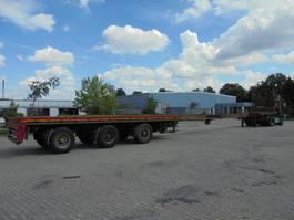 flatbed semi trailer Broshuis 3AOU-48/1 DUBBEL SCHUIFER 1989