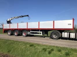 drop side semi trailer Floor Stenentrailer steenoplegger + Kennis 14tm kraan 2000