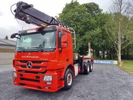 Holz LKW Mercedes-Benz Actros 3360 -6x4-hiab crane-steel suspension-alcoa