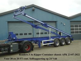 container chassis semi trailer Renders 3 As Kipper chassis 30FT en 20 FT Liftas Selfsupportend op 24 Volt 1997