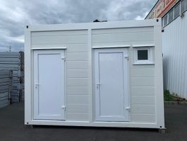 sanitary container Vamiro Sanitary container PUR 4 x 2.45m, Festival toilets, Shower container, Camping toilet, Mobile WC - NEW 2021
