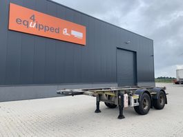 Container-Fahrgestell Auflieger Van Hool 20FT ADR-Chassis, galvanised, empty weight: 3.020kg, BPW+drum, MOT:30/03/2022, 2x available 2005