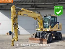 wheeled excavator Komatsu PW160-7K ALL FUNCTIONS 2006