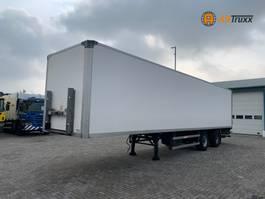 closed box semi trailer Groenewegen 2-As City 12 M Drum brakes 2007