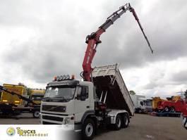 tipper truck > 7.5 t Volvo FM 340 6X4+manual + HMF 3720 K4 crane + Kipper + Jib 30 mtr+ REMOTE 2005