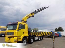 platform truck MAN 460 + Manual + COMPA 99 t/m Crane + Remote + 8x4 spring 2004