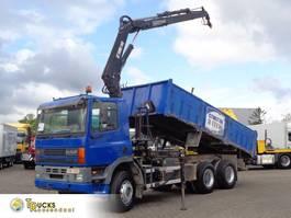 crane truck DAF 85.360 ATI + Euro 2 + Hiab 140 Crane + kipper + 6X4 1997