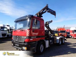 container truck Mercedes-Benz Actros 2640 Containerauto + Hiab 155-3 Crane + Multilift Hook-system + 3 pedals + Lo... 2000