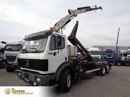 container truck Mercedes-Benz 2433 + Semi-Auto + PTO + Serie 14 Crane + 3 pedals 1992