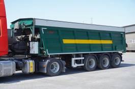 flatbed semi trailer Fliegl SDS , Ejector 30m3 , 3X BPW ECO 2015