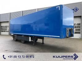 closed box semi trailer Tracon Trailers TB1218 / LZV B-Double / Box 10 mtr / Laadklep 2012