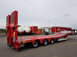 lowloader semi trailer KAESSBOHRER SLS HS 3-Achs Lowbed starr -hydr. Schwanenhals-